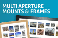 multi aperture mounts and frames