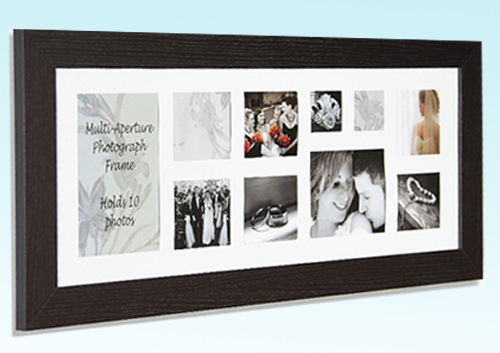 Panoramic Multi Picture Frame Fits 6x4 Photos Pictures