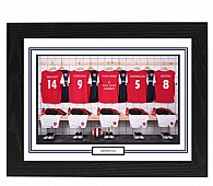 Personalised Framed Unofficial Arsenal Football Shirt Photo A3