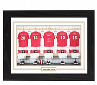 Personalised Framed 100% Unofficial Man Utd Football Shirt Photo A3