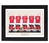 Personalised Framed  Unofficial Middlesborough Football Shirt Photo A3