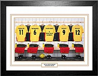 Personalised Framed 100% Unofficial Watford Football Shirt Photo A3