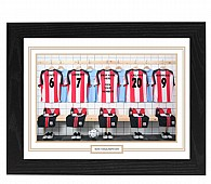 Personalised Framed Unofficial Southampton Team Shirt Photo A3