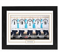 Personalised Framed 100% Unofficial Tottenham Football Shirt Photo A3
