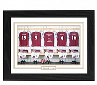 Personalised Framed 100% Unofficial West Ham Football Shirt Photo A3