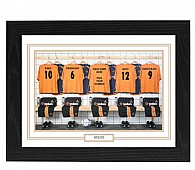 Personalised Framed Unofficial Wolverhampton Football Shirt Photo A3