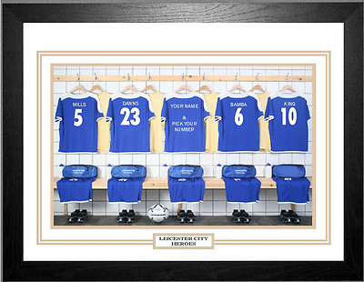 Personalised Framed 100% Unofficial Leicester Football Shirt Photo A3 -  Picture Frames Buddy 6cf77d26c