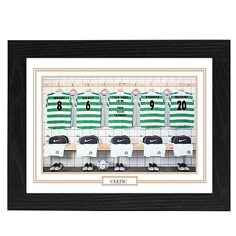 Personalised Framed  Unofficial Celtic team Shirt Photo A3