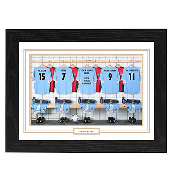 Personalised Framed Unofficial Coventry city team Shirt Photo A3