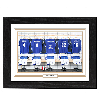 Personalised Framed 100% Unofficial Everton Football Shirt Photo A3
