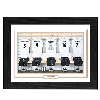 Personalised Framed 100% Unofficial Fulham Football Shirt Photo A3