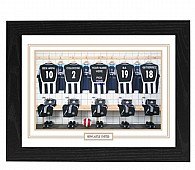 Personalised Framed 100% Unofficial Newcastle Football Shirt Photo A3