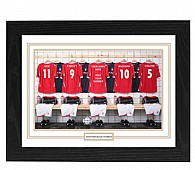 Personalised Framed 100% Unofficial Nottingham Football Shirt Photo A3