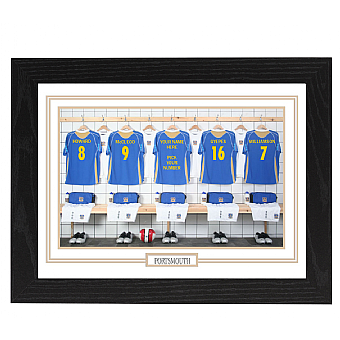 Personalised Framed 100% Unofficial Portsmouth Football Shirt Photo A3