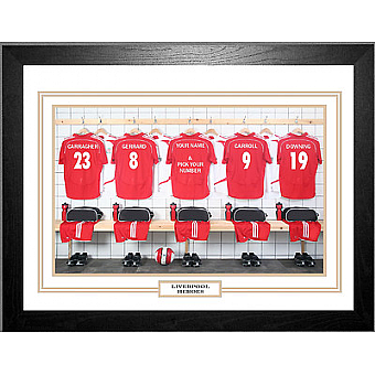 Personalised Framed 100% Unofficial Liverpool Football Shirt Photo A3