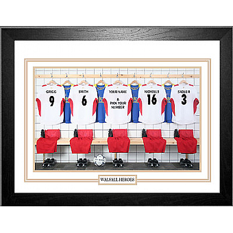 Personalised Framed 100% Unofficial Walsall Football Shirt Photo A3