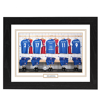 Personalised Framed 100% Unofficial Reading Football Shirt Photo A3