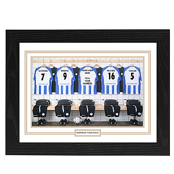 Personalised Framed  Unofficial Sheffield Wednesday Team Shirt Photo A3