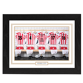Personalised Framed 100% Unofficial Stoke Football Shirt Photo A3
