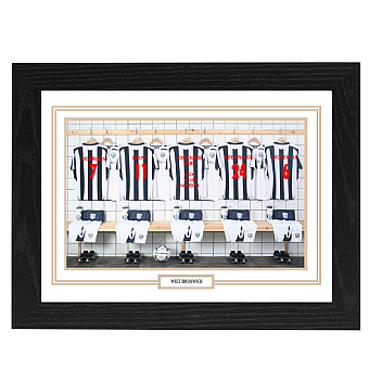 Personalised Framed 100% Unofficial West Brom Football Shirt Photo A3