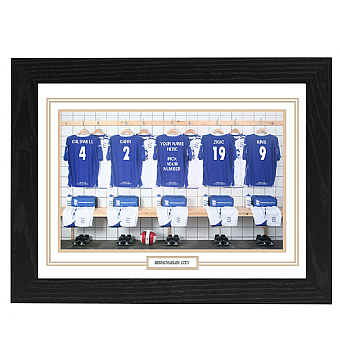 Personalised Framed  Unofficial Birmingham team Shirt Photo A3