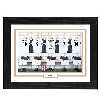 Personalised Framed  Unofficial Bolton Team Shirt Photo A3